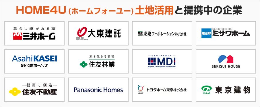 HOME4U(ホームフォーユー)土地活用と提携中の企業
